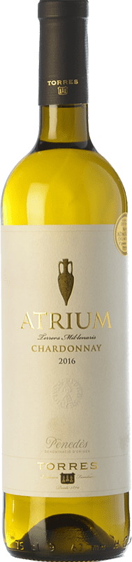9,95 € Free Shipping | White wine Torres Atrium Chardonnay Crianza D.O. Penedès Catalonia Spain Chardonnay, Parellada Bottle 75 cl