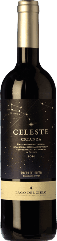17,95 € Free Shipping | Red wine Torres Celeste Crianza D.O. Ribera del Duero Castilla y León Spain Tempranillo Bottle 75 cl