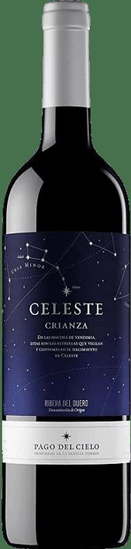 15,95 € Envío gratis | Vino tinto Torres Celeste Crianza D.O. Ribera del Duero Castilla y León España Tempranillo Botella 75 cl