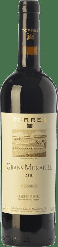 104,95 € Free Shipping | Red wine Torres Grans Muralles Crianza 2010 D.O. Conca de Barberà Catalonia Spain Grenache, Monastrell, Carignan Bottle 75 cl