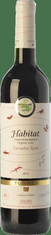 9,95 € Free Shipping | Red wine Torres Hábitat Orgánico Joven D.O. Catalunya Catalonia Spain Syrah, Grenache Bottle 75 cl