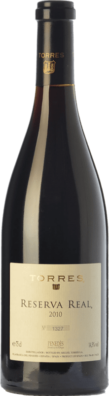 169,95 € Free Shipping | Red wine Torres Real Reserva 2011 D.O. Penedès Catalonia Spain Merlot, Cabernet Sauvignon, Cabernet Franc Bottle 75 cl