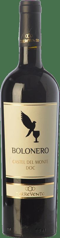 7,95 € Free Shipping | Red wine Torrevento Bolonero D.O.C. Castel del Monte Puglia Italy Aglianico, Nero di Troia Bottle 75 cl