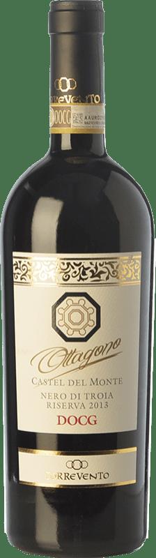 13,95 € Free Shipping | Red wine Torrevento Riserva Ottagono Reserva D.O.C.G. Castel del Monte Nero di Troia Riserva Puglia Italy Nero di Troia Bottle 75 cl