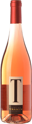 9,95 € Free Shipping | Rosé wine Tramin T Rosé I.G.T. Vigneti delle Dolomiti Trentino Italy Merlot, Pinot Black, Lagrein Bottle 75 cl