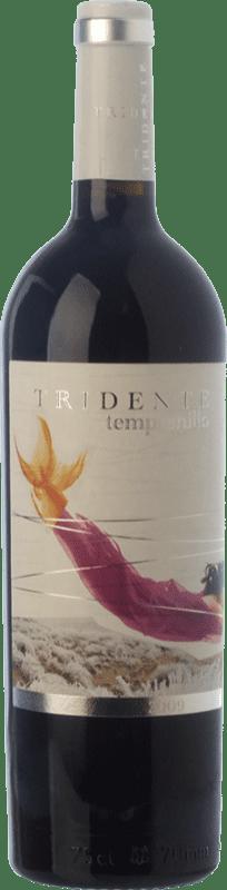 13,95 € Envío gratis | Vino tinto Tritón Tridente Crianza I.G.P. Vino de la Tierra de Castilla y León Castilla y León España Tempranillo Botella 75 cl