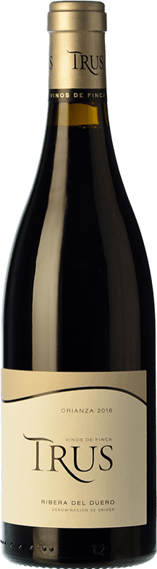 16,95 € Envío gratis | Vino tinto Trus Crianza D.O. Ribera del Duero Castilla y León España Tempranillo Botella 75 cl