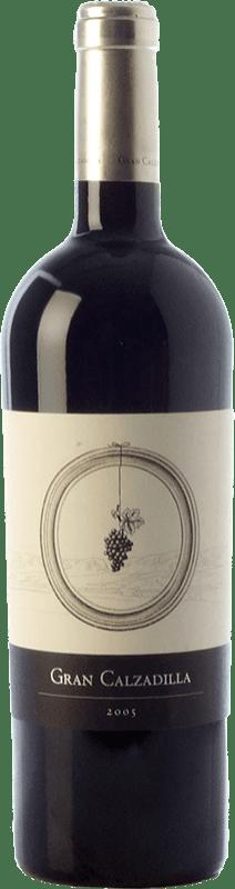 39,95 € Envío gratis | Vino tinto Uribes Madero Gran Calzadilla Crianza I.G.P. Vino de la Tierra de Castilla Castilla la Mancha España Tempranillo, Cabernet Sauvignon Botella 75 cl