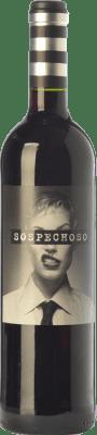 8,95 € Envoi gratuit | Vin rouge Uvas Felices Sospechoso Joven I.G.P. Vino de la Tierra de Castilla Castilla La Mancha Espagne Tempranillo, Tinta de Toro Bouteille 75 cl