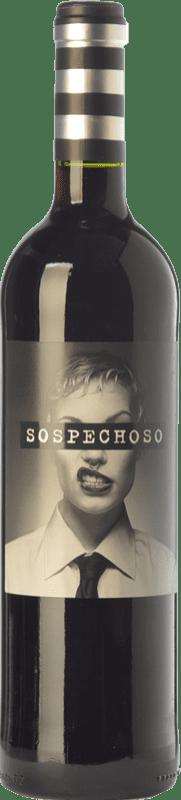 9,95 € Free Shipping | Red wine Uvas Felices Sospechoso Joven I.G.P. Vino de la Tierra de Castilla Castilla la Mancha Spain Tempranillo, Tinta de Toro Bottle 75 cl