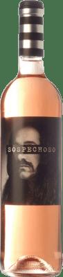 9,95 € Free Shipping | Rosé wine Uvas Felices Sospechoso I.G.P. Vino de la Tierra de Castilla Castilla la Mancha Spain Tempranillo, Bobal Magnum Bottle 1,5 L