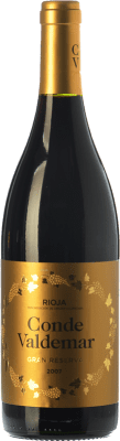 23,95 € Free Shipping | Red wine Valdemar Conde de Valdemar Gran Reserva D.O.Ca. Rioja The Rioja Spain Tempranillo, Graciano, Mazuelo Bottle 75 cl