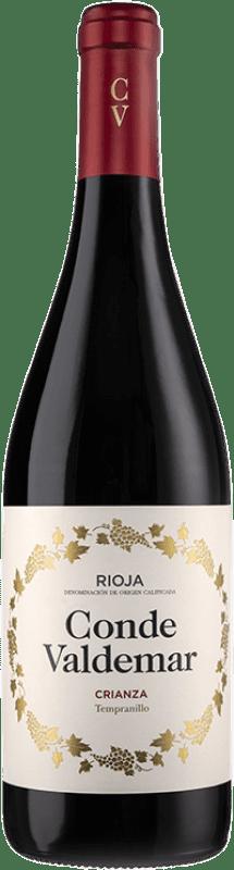 7,95 € Envío gratis | Vino tinto Valdemar Conde de Valdemar Crianza D.O.Ca. Rioja La Rioja España Tempranillo, Mazuelo Botella 75 cl