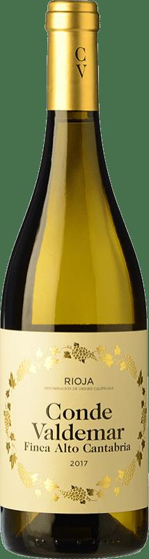 9,95 € Free Shipping | White wine Valdemar Conde de Valdemar Finca Alto Cantabria Crianza D.O.Ca. Rioja The Rioja Spain Viura Bottle 75 cl