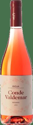 5,95 € Kostenloser Versand | Rosé-Wein Valdemar Conde de Valdemar Rosé Joven D.O.Ca. Rioja La Rioja Spanien Tempranillo, Grenache Flasche 75 cl
