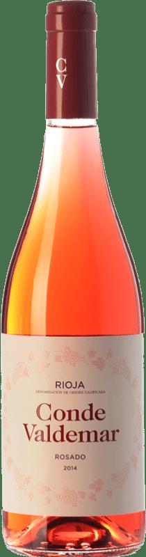 5,95 € Free Shipping | Rosé wine Valdemar Conde de Valdemar Rosé Joven D.O.Ca. Rioja The Rioja Spain Tempranillo, Grenache Bottle 75 cl