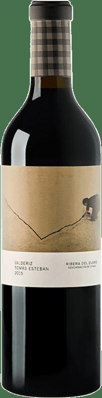 63,95 € Envío gratis | Vino tinto Valderiz Tomás Esteban Crianza 2009 D.O. Ribera del Duero Castilla y León España Tempranillo Botella 75 cl