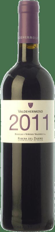 6,95 € Envío gratis | Vino tinto Valderiz Valdehermoso Joven D.O. Ribera del Duero Castilla y León España Tempranillo Botella 75 cl