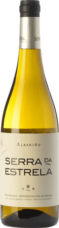 12,95 € Free Shipping | White wine Valmiñor Serra da Estrela D.O. Rías Baixas Galicia Spain Albariño Bottle 75 cl
