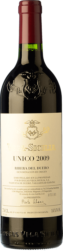 355,95 € Envoi gratuit | Vin rouge Vega Sicilia Único Gran Reserva D.O. Ribera del Duero Castille et Leon Espagne Tempranillo, Cabernet Sauvignon Bouteille 75 cl