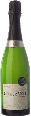 12,95 € Free Shipping | White sparkling Vell Extra Brut Gran Reserva 2011 D.O. Cava Catalonia Spain Macabeo, Xarel·lo, Chardonnay, Parellada Bottle 75 cl. | Thousands of wine lovers trust us to get the best price guarantee, free shipping always and hassle-free shopping and returns.