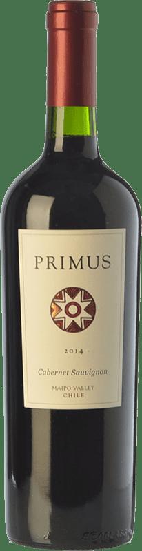 13,95 € Free Shipping | Red wine Veramonte Primus Crianza I.G. Valle del Maipo Maipo Valley Chile Cabernet Sauvignon Bottle 75 cl