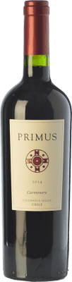 13,95 € Free Shipping | Red wine Veramonte Primus Crianza I.G. Valle de Colchagua Colchagua Valley Chile Carmenère Bottle 75 cl