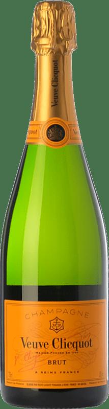 417,95 € Envoi gratuit | Blanc moussant Veuve Clicquot Yellow Label Brut A.O.C. Champagne Champagne France Chardonnay, Pinot Meunier Bouteille Jéroboam-Doble Magnum 3 L