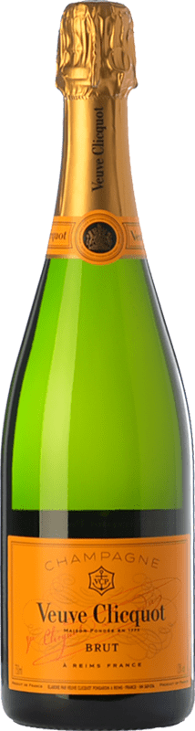 417,95 € Free Shipping | White sparkling Veuve Clicquot Yellow Label Brut A.O.C. Champagne Champagne France Chardonnay, Pinot Meunier Jeroboam Bottle-Double Magnum 3 L