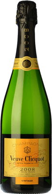 56,95 € Free Shipping | White sparkling Veuve Clicquot Vintage 2004 A.O.C. Champagne Champagne France Pinot Black, Chardonnay, Pinot Meunier Bottle 75 cl. | Thousands of wine lovers trust us to get the best price guarantee, free shipping always and hassle-free shopping and returns.