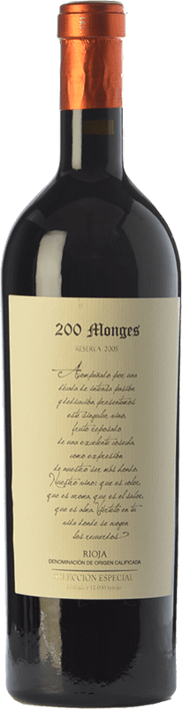 67,95 € Envoi gratuit | Vin rouge Vinícola Real 200 Monges Selección Especial Reserva 2005 D.O.Ca. Rioja La Rioja Espagne Tempranillo Bouteille 75 cl