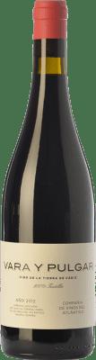 16,95 € Free Shipping | Red wine Vinos del Atlántico Vara y Pulgar Crianza I.G.P. Vino de la Tierra de Cádiz Andalusia Spain Tintilla Bottle 75 cl