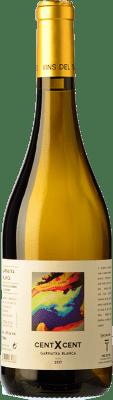 16,95 € Free Shipping | White wine Vins del Tros Cent x Cent Crianza D.O. Terra Alta Catalonia Spain Grenache White Bottle 75 cl