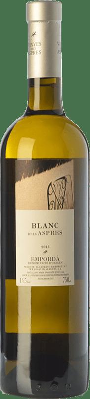 15,95 € Envoi gratuit | Vin blanc Aspres Blanc Criança Crianza D.O. Empordà Catalogne Espagne Grenache Blanc Bouteille 75 cl