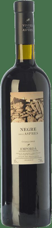15,95 € Envío gratis | Vino tinto Aspres Negre Crianza D.O. Empordà Cataluña España Garnacha, Cabernet Sauvignon, Cariñena Botella 75 cl