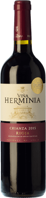 8,95 € Free Shipping | Red wine Viña Herminia Crianza D.O.Ca. Rioja The Rioja Spain Tempranillo, Grenache Bottle 75 cl