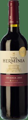 9,95 € Envoi gratuit | Vin rouge Viña Herminia Crianza D.O.Ca. Rioja La Rioja Espagne Tempranillo, Grenache Bouteille 75 cl