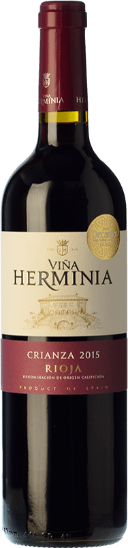 5,95 € Free Shipping | Red wine Viña Herminia Crianza D.O.Ca. Rioja The Rioja Spain Tempranillo, Grenache Bottle 75 cl