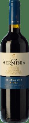 11,95 € Envoi gratuit | Vin rouge Viña Herminia Reserva D.O.Ca. Rioja La Rioja Espagne Tempranillo, Grenache, Graciano Bouteille 75 cl