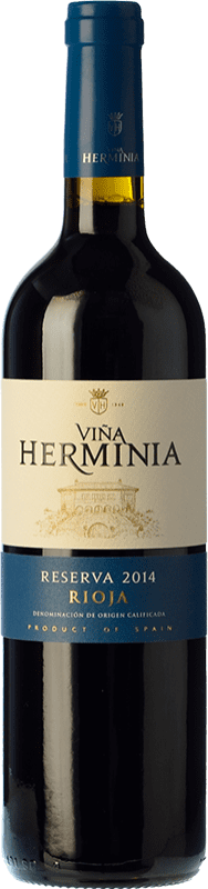 11,95 € Free Shipping | Red wine Viña Herminia Reserva D.O.Ca. Rioja The Rioja Spain Tempranillo, Grenache, Graciano Bottle 75 cl