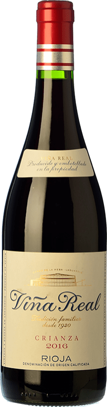 7,95 € Free Shipping | Red wine Viña Real Crianza D.O.Ca. Rioja The Rioja Spain Tempranillo, Grenache, Graciano, Mazuelo Bottle 75 cl
