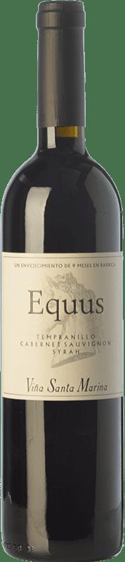 7,95 € Envío gratis | Vino tinto Santa Marina Equus Joven I.G.P. Vino de la Tierra de Extremadura Extremadura España Tempranillo, Syrah, Cabernet Sauvignon Botella 75 cl