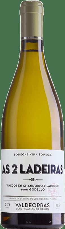 19,95 € Free Shipping | White wine Viña Somoza As 2 Ladeiras Crianza D.O. Valdeorras Galicia Spain Godello Bottle 75 cl