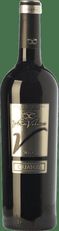 9,95 € Envío gratis | Vino tinto Viña Vilano Crianza D.O. Ribera del Duero Castilla y León España Tempranillo Botella 75 cl