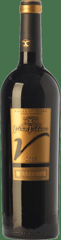 15,95 € Envío gratis | Vino tinto Viña Vilano Reserva D.O. Ribera del Duero Castilla y León España Tempranillo Botella 75 cl