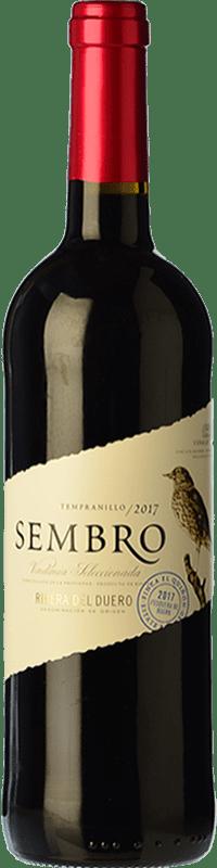 6,95 € Free Shipping | Red wine Viñas del Jaro Sembro Joven D.O. Ribera del Duero Castilla y León Spain Tempranillo Bottle 75 cl