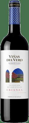 7,95 € Free Shipping | Red wine Viñas del Vero Crianza D.O. Somontano Aragon Spain Tempranillo, Cabernet Sauvignon Bottle 75 cl