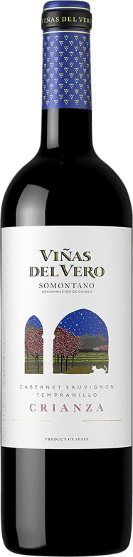 6,95 € Free Shipping   Red wine Viñas del Vero Crianza D.O. Somontano Aragon Spain Tempranillo, Cabernet Sauvignon Bottle 75 cl