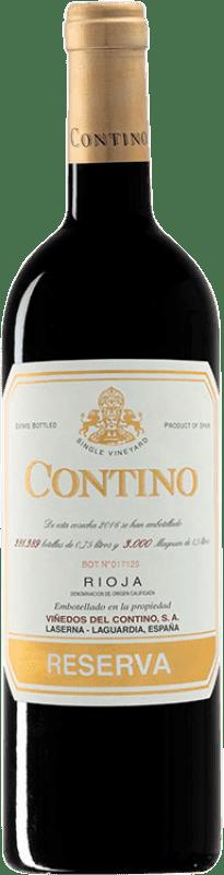 28,95 € Free Shipping | Red wine Viñedos del Contino Reserva D.O.Ca. Rioja The Rioja Spain Tempranillo, Grenache, Graciano, Mazuelo Bottle 75 cl