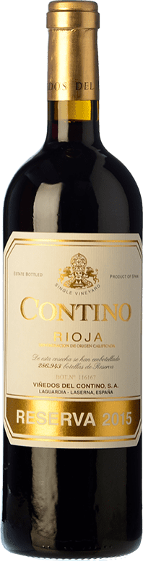 28,95 € Envío gratis | Vino tinto Viñedos del Contino Reserva D.O.Ca. Rioja La Rioja España Tempranillo, Garnacha, Graciano, Mazuelo Botella 75 cl